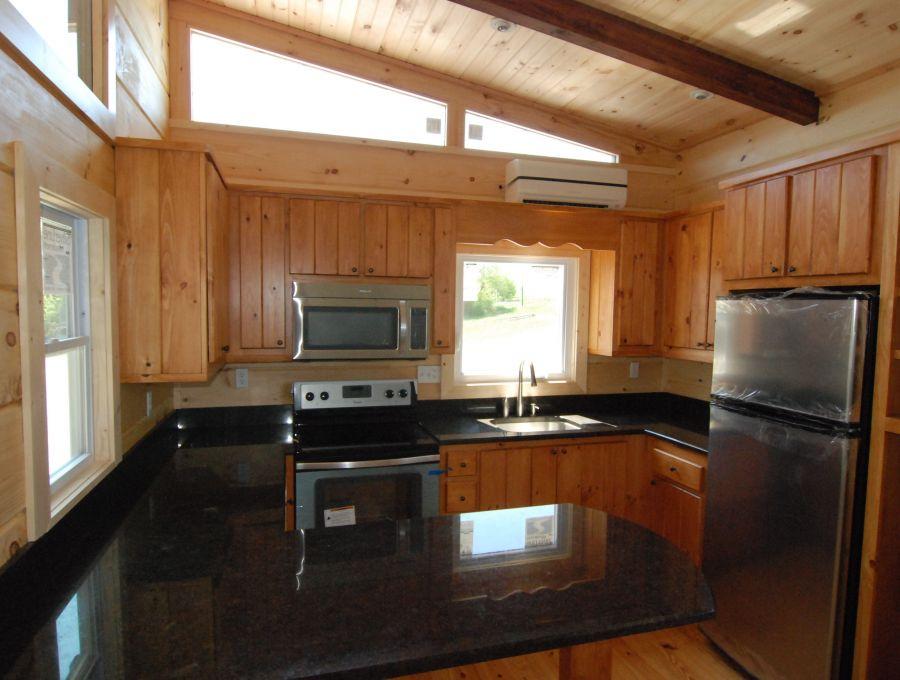 Park model log cabins homes