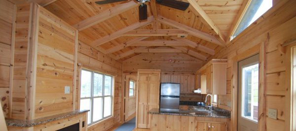 34' x 12' RV Park Log Cabin with Great Room $38,800 (ID:1 ...