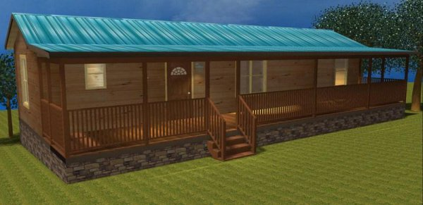 50 X 16 Modular Log Cabin Home Nc Two Bedroom Id 88